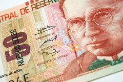 Peruvian Currency. Peruvian paper notes, Nuevos Soles currency from Peru Stock Images