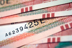 Peruvian Currency. Peruvian paper notes, Nuevos Soles currency from Peru Stock Photography