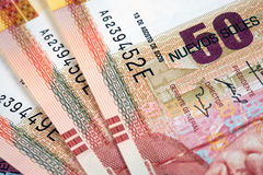 Peruvian Currency. Peruvian paper notes, Nuevos Soles currency from Peru Royalty Free Stock Photos
