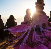Peruvian dance. Authentic peruvian dance stock photography