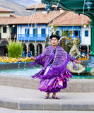 Peruvian dancer Royalty Free Stock Image