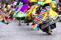 Peruvian dancers   Stock Image
