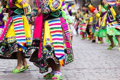 Peruvian dancers   Stock Photo