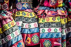 Peruvian dancers at the parade in Cusco. Stock Images