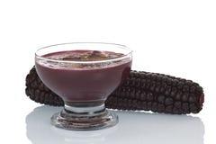 Peruvian Dessert Called Mazamorra Morada Stock Images