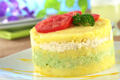 Peruvian Dish Called Causa Royalty Free Stock Photography
