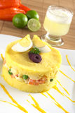 Peruvian Dish Called Causa Royalty Free Stock Photos
