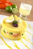 Peruvian Dish Called Causa Royalty Free Stock Photos