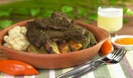 Peruvian Dish Called Pachamanca stock photography