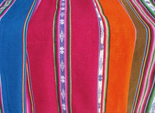 Peruvian fabrcs. Peruvian fabrics close-up. Very traditional article form Bolivia and Peru Stock Images