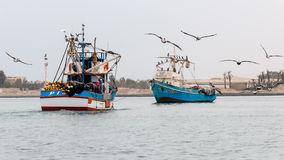 Peruvian fisher-boat Royalty Free Stock Images