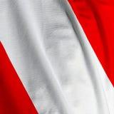 Peruvian Flag Closeup Royalty Free Stock Images