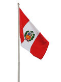Peruvian flag in pole. Stock Photography