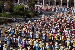 Peruvian Folk Dance Royalty Free Stock Photography