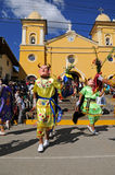 Peruvian Folklore Dance in Cajabamba Royalty Free Stock Photos