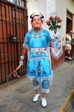 Peruvian Folklore Dancer in Cajabamba Royalty Free Stock Images