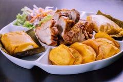 Peruvian food: breakfast desayuno peruano Stock Image