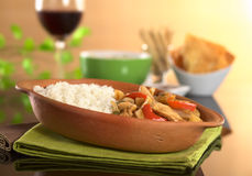 Peruvian Food Called Lomo Saltado Stock Photo
