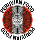 Peruvian food illustration Stock Image