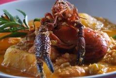Peruvian food, shrimp suck royalty free stock photo