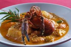 Peruvian food, shrimp suck stock photos