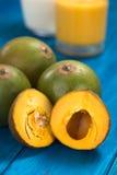Peruvian Fruit Called Lucuma Stock Photos