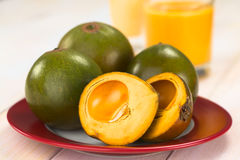 Peruvian Fruit Called Lucuma Stock Photo