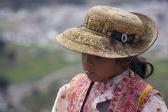 Peruvian Girl Royalty Free Stock Images