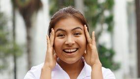 Peruvian Girl Teenager Joyful Royalty Free Stock Photos
