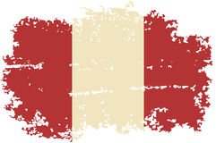 Peruvian grunge flag. Vector illustration. Royalty Free Stock Photography