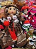Peruvian hand made doll woolen fabric. Background stock image