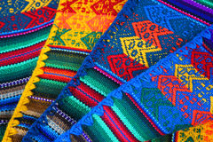 Peruvian hand made texture Stock Images