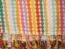 Peruvian hand made woolen fabric royalty free stock image