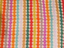 Peruvian hand made woolen fabric. Background royalty free stock photo