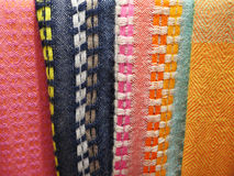 Peruvian hand made woolen fabric. Background royalty free stock photos