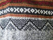 Peruvian hand made woolen fabric. Background stock image