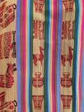 Peruvian hand made woolen fabric Stock Photo