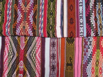 Peruvian hand made woolen fabric Royalty Free Stock Photos