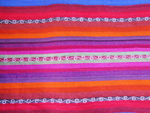 Peruvian hand made woolen fabric stock photography