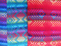 Peruvian hand made woolen fabric Royalty Free Stock Photo