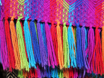 Peruvian hand made woolen fabric stock image