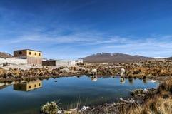 Peruvian highland lake. Arequipa, Peru Stock Images