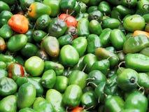 Peruvian hot chili peppers background Stock Image