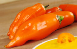 Peruvian Hot Pepper Called Aji Royalty Free Stock Photo