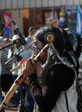 Peruvian Indian Musician at Popular Pilgrimage Stock Photo