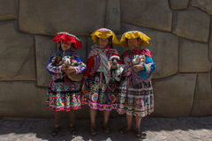 Peruvian ladies Stock Images