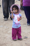 Peruvian little girl very poor but happy Royalty Free Stock Photos