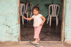 Peruvian little girl very poor but happy Royalty Free Stock Photo