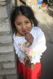 Peruvian little girl very poor but happy Stock Photos