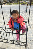 Peruvian little girl very poor but happy Stock Image
